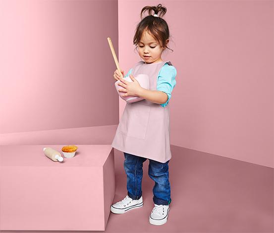 Gyerek konyhai kötény, rózsaszín