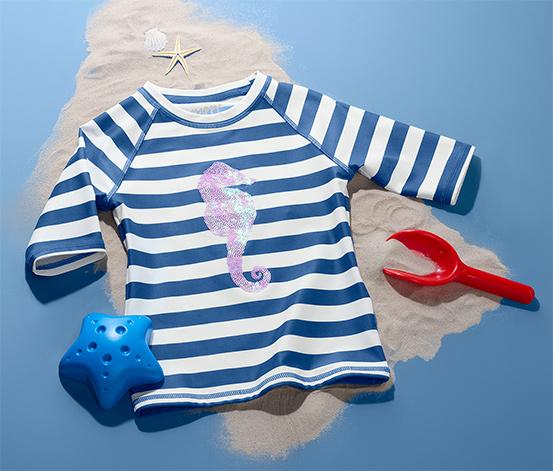 Tričko na ochranu proti UV žiareniu s flitrami