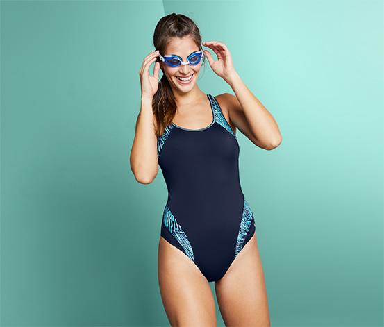 Női sport fürdőruha, kék