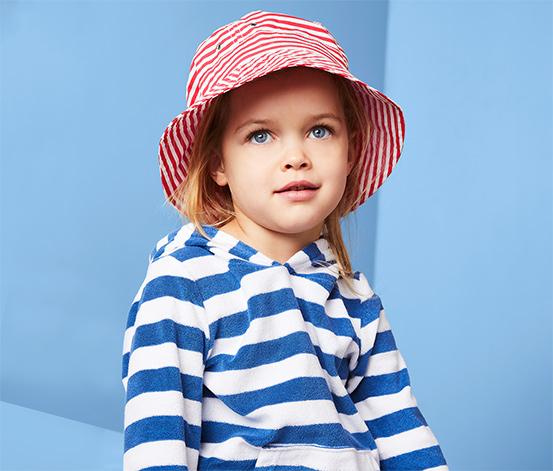 Gyerek nyári kalap, csíkos