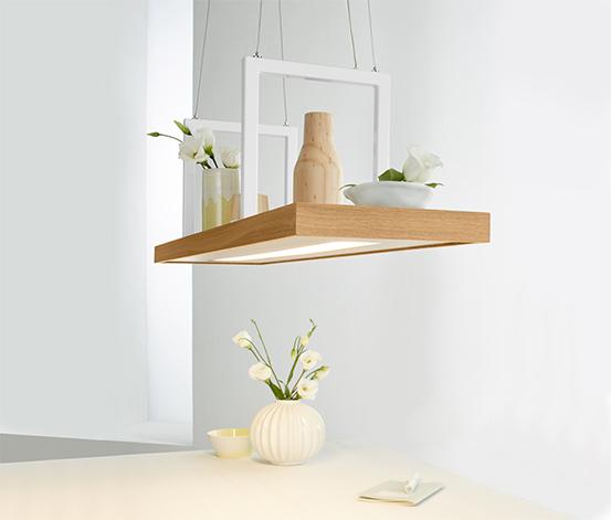 Závesné svietidlo s LED a dekoračným podnosom