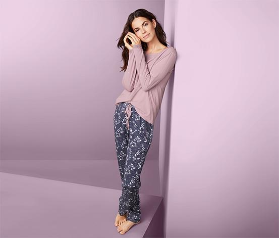 Pyžamo s tkanými nohavicami