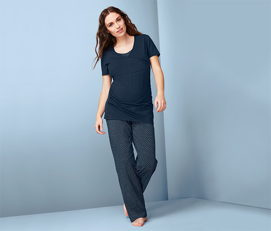 Kismama pizsama, sötétkék