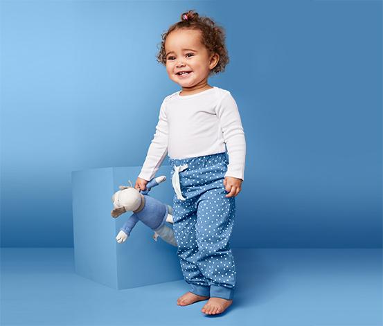 Miękkie spodnie dziecięce z dżerseju