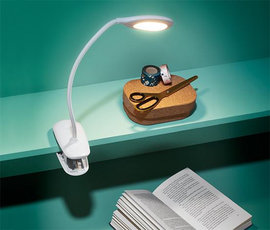 LED-Klemmleuchte mit Akku