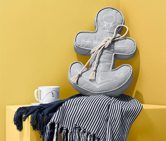 Poduszka dekoracyjna w kształcie kotwicy