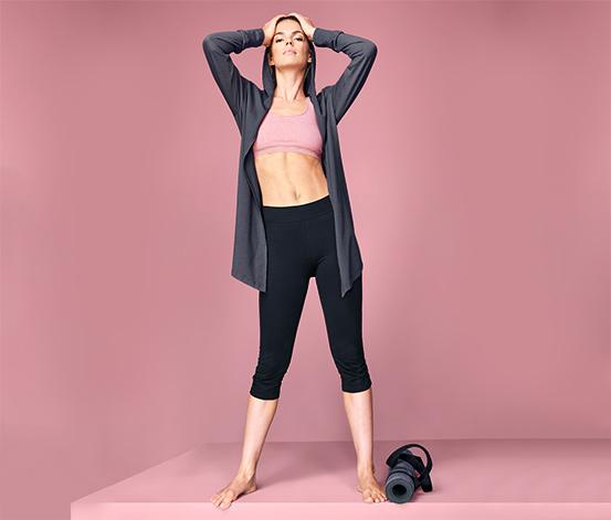 Wellness-Sweatjacke mit Kapuze