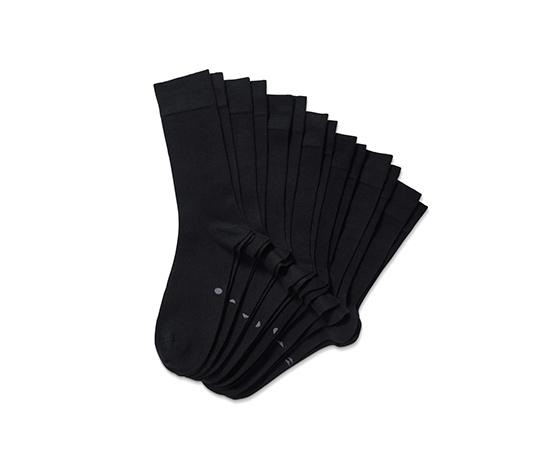 7 pár férfi zokni szettben, fekete