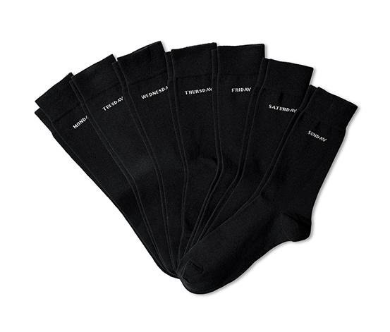 Ponožky s dňami v týždni, 7 párov