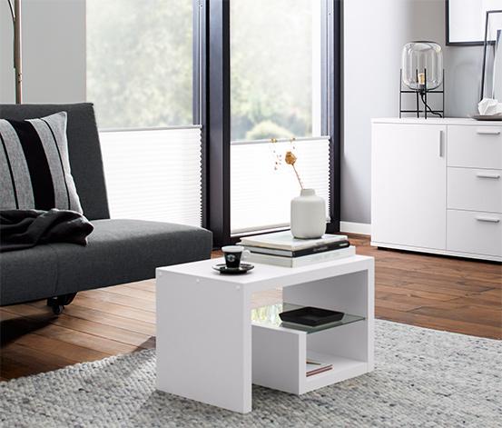 Odkládací stolek Vario, bílý