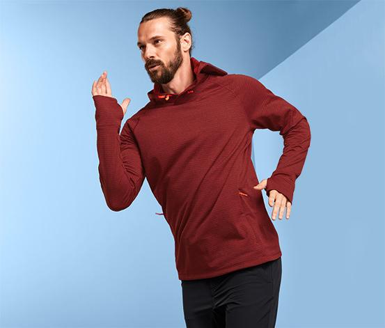 Męska bluza funkcyjna z kapturem