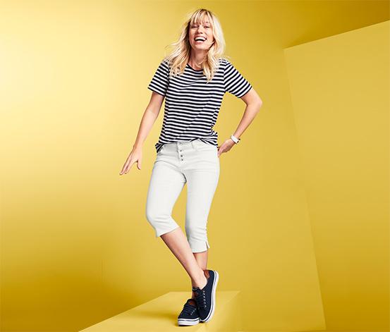 Trojštvrťové džínsy