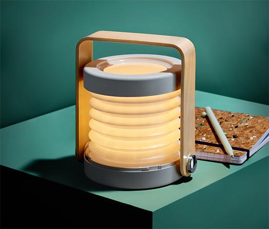 Skladacia stolná lampa s LED