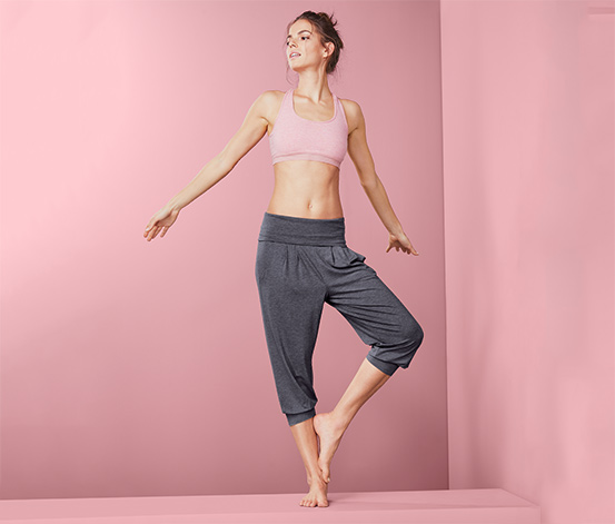 Spodnie do jogi o długości 3/4 z wiskozą