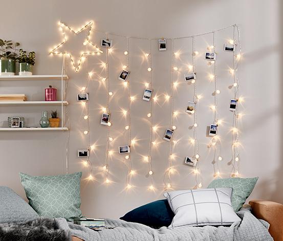 Kurtyna świetlna LED z ozdobnymi kulkami