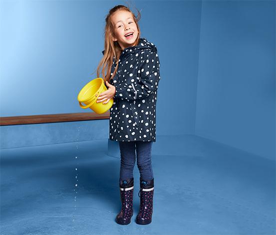 Kislány esőkabát, pöttyös