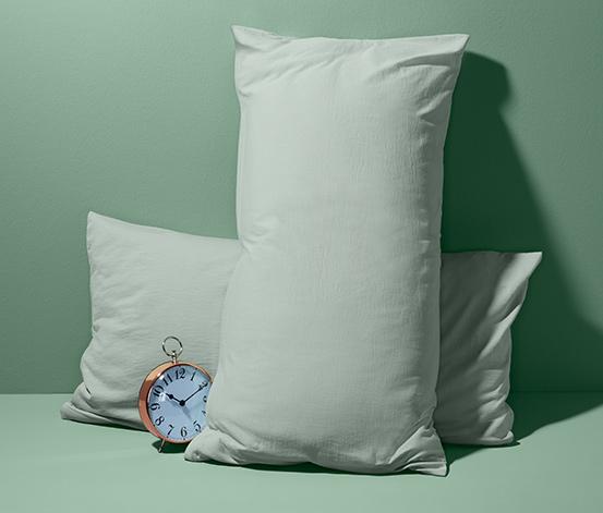 Dżersejowe poszewki na poduszki, zapinane na zamek błyskawiczny, 2 sztuki