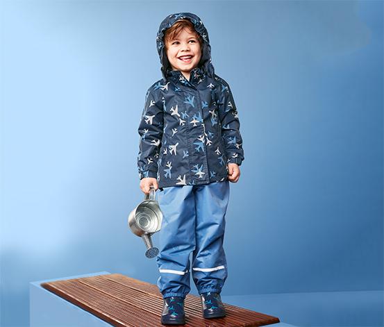 Dziecięca ciepła kurtka przeciwdeszczowa z elementami odblaskowymi