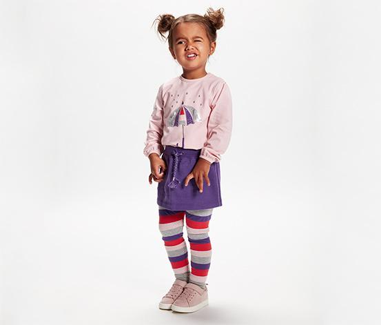 Dziewczęca bluzka z długim rękawem zakończonym ściągaczem