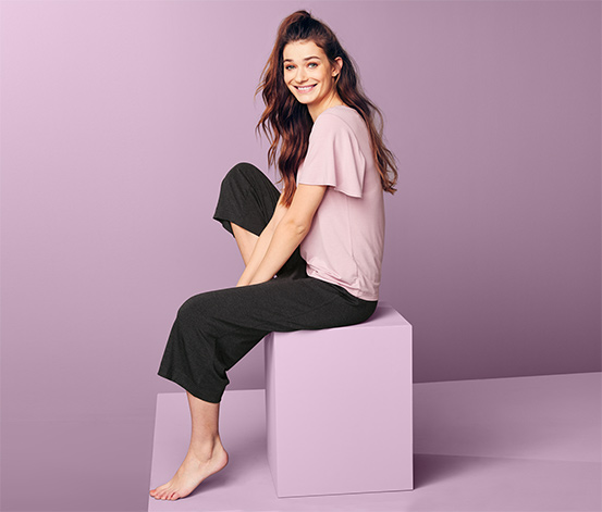 Pyjama mit Culotte-Hose