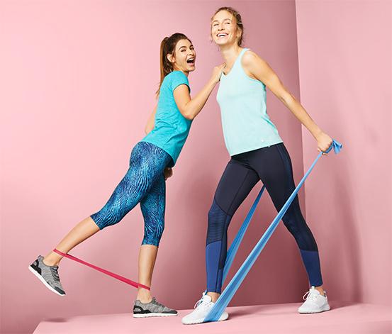 Taśmy do fitnessu i gumy do fitnessu, po 2 sztuki