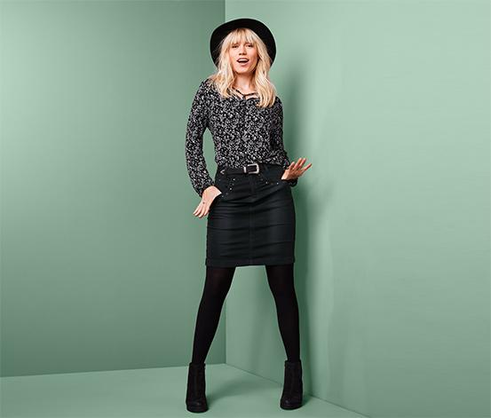 Czarna spódnica dżinsowa z bawełną ekologiczną