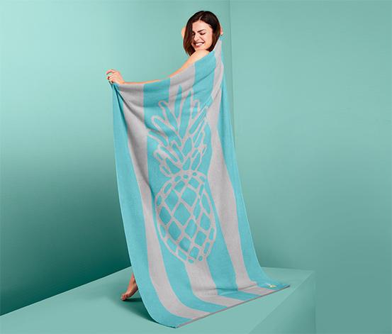 Żakardowy ręcznik kąpielowy XL z tkaniny frotté