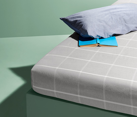 Dra-på-lakan i flanell (för madrasser 140 x 200 cm – 160 x 200 cm)