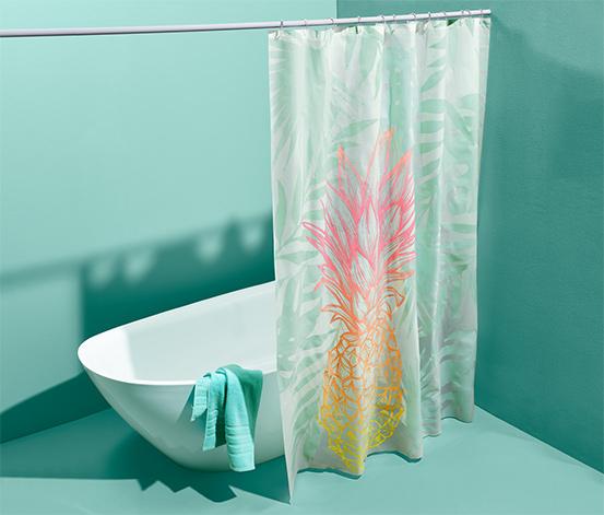 Zasłona prysznicowa z tropikalnym wzorem