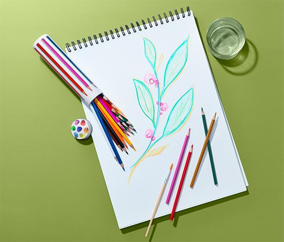 24 akvarell színesceruza szettben