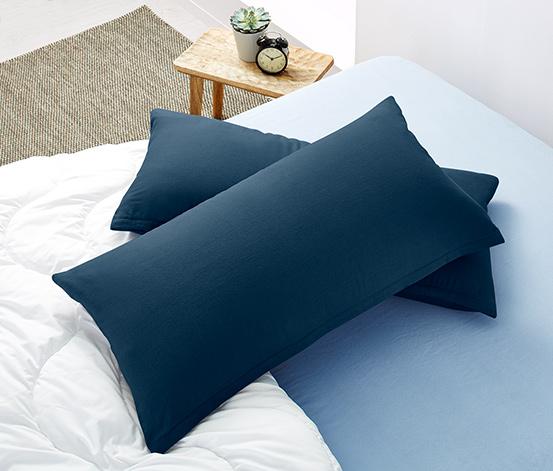 Flanelowe poszewki na podłużne poduszki, 2 sztuki