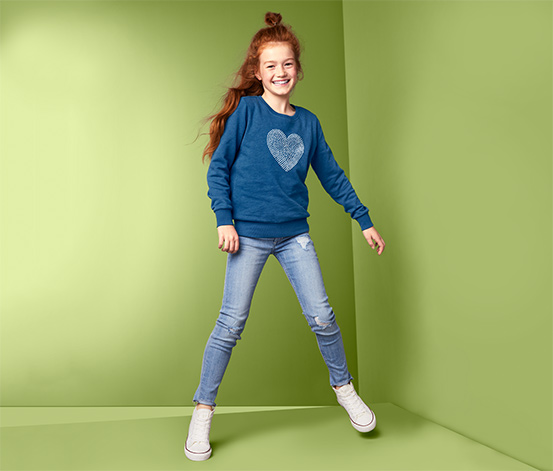 Bluza dresowa z motywem serca z bawełną ekologiczną