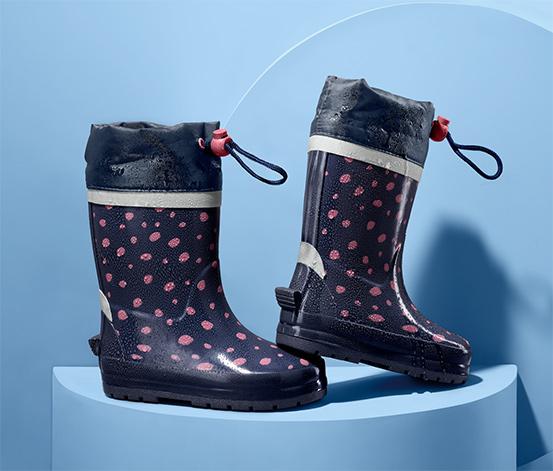 Detské čižmy do dažďa, bodkované