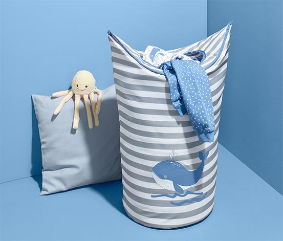 Kosz z motywem wieloryba na pranie lub zabawki