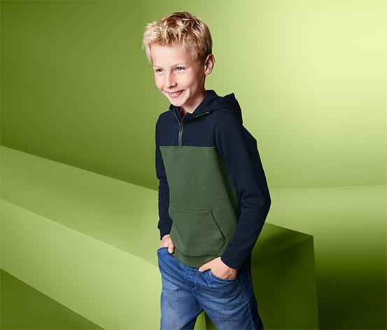 Organik Pamuklu Kapüşonlu Sweatshirt