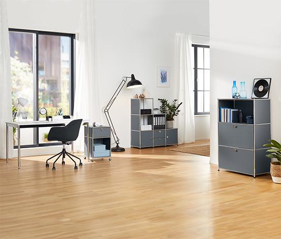 Gepolsterter Schreibtischstuhl