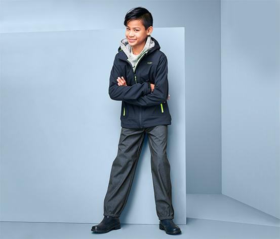 Chłopięce spodnie softshell imitujące jeans