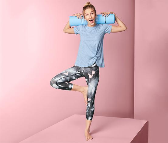 Tričko na jogu s uzlom
