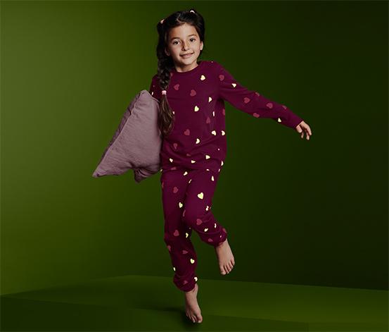 Piżama świecąca w ciemności z bawełną ekologiczną