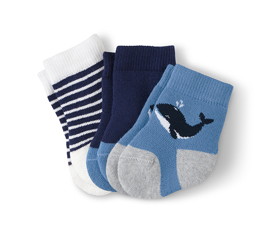 3 pár kisgyerek zokni szettben, bálna