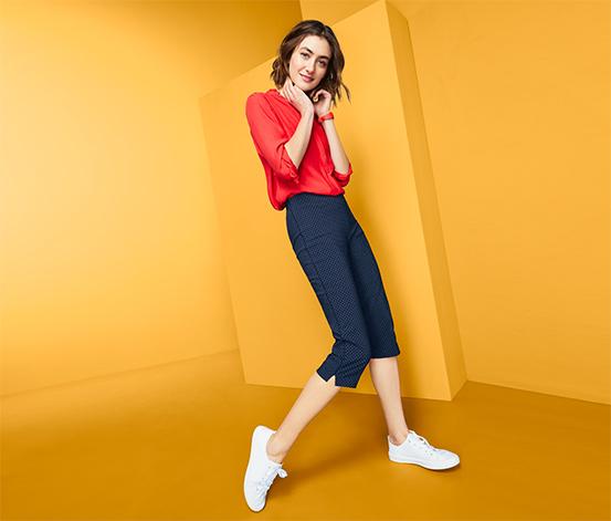 Strečové kalhoty ve 3/4 délce