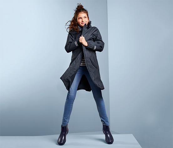 Lány kabát minden időjárásra, sötétkék