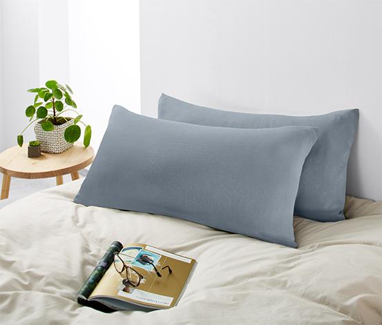 Poszewki na poduszki z dżerseju zapinane na zamek, 2 sztuki, jasnoszary