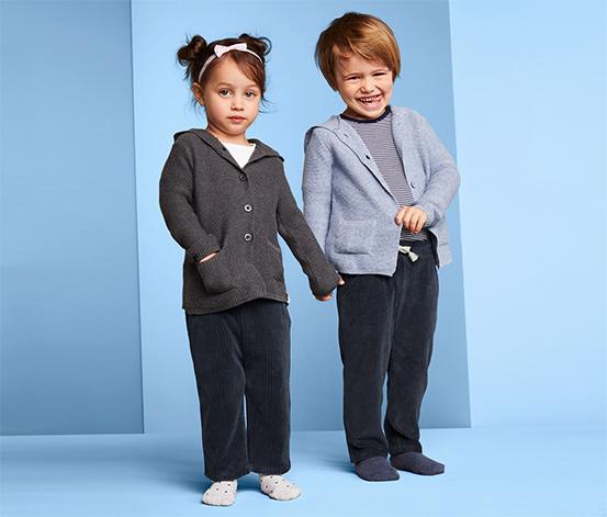 Spodnie niemowlęce z weluru