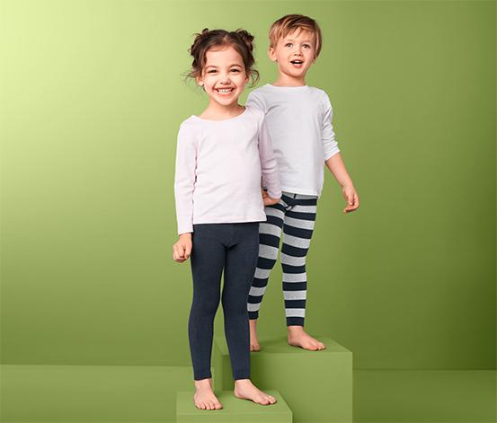 2 kisgyerek termoleggings szettben