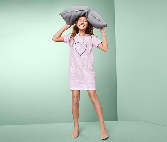 Dziewczęca koszula nocna z bawełny w paski