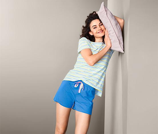 Bawełniania krótka piżama damska z szortami