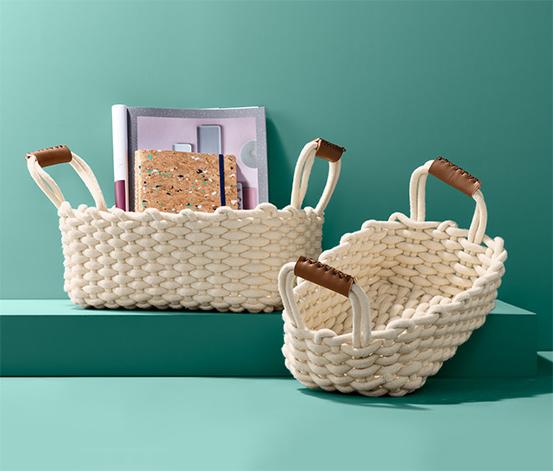 Vyplétané úložné košíky,  2 ks