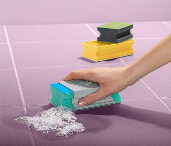 Specjalne gąbki z uchwytem do intensywnego czyszczenia, 3 sztuki do różnych powierzchni