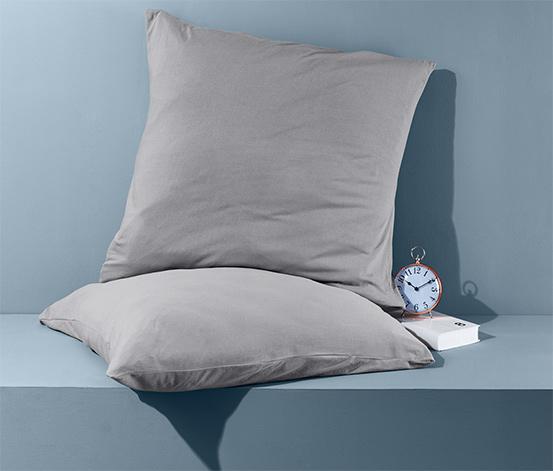 Dżersejowe poszewki nie wymagające prasowania na kwadratowe poduszki, 2 szt. 80 x 80 cm